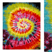 Viva Woodstock Multi Color Modern Boho Abstract Area Rug