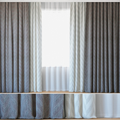 Curtains 104 | Curtains with Tulle | Jacquard Fabric | Lazarus