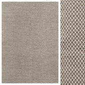 Wood Brown/Chiffon White Flat Weave Rug