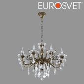 ОМ Люстра с хрусталем Eurosvet 3281/8 бронза Elisha