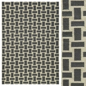 Pebble Grey/Cream Flat Weave Rug