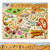 Radiator Springs Play Multi-Colored Indoor Juvenile Area Rug