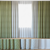 Curtains 105 | Curtains with Tulle | Jacquard Fabric | Lazarus