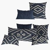 Подушки от Restoration Hardware коллекции Handwoven Melange Flatweave Pillow цвет Indigo Natural