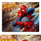 Spider Man City Multi-Colored Indoor Juvenile Area Rug