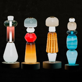 Colourful blown-glass totems by Luca Nichetto