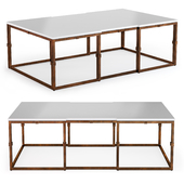 Gabby Stevens Painted Seagrass Brass Coffee Table