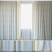 Curtains 106 | Curtains with Tulle | Jacquard Fabric & ROHI | Lazarus & sera