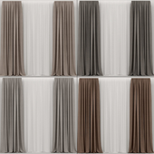 Collection of brown curtains.