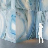Fiandre Precious Stones AGATA AZZURRA 300x150 cm Tile Set