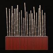 Pebble bamboo decor / Bamboo decor pebble
