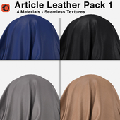 Maharam - Article Leather - Pack 1 (4 Seamless Materials)