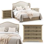 Hooker Furniture: California King Bed & Floresville Bachelors Chest