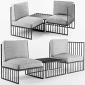 Emiyo armchair and Table Emiyo