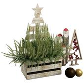 Decorative set with plants 01