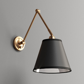 First Edition Adjustable Arm Reading Wall Lamp