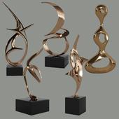 Sculptures decor set by Tom Bennett & Charles Westgarth