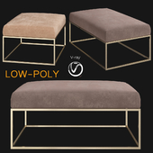 Box Frame Upholstered Bench & Ottoman Westelm (low poly)