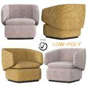 Crescent Swivel Chair Westelm (low poly)