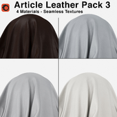 Maharam - Article Leather - Pack 3 (4 Seamless Materials)