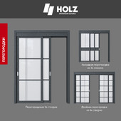 OM Doors HOLZ: a collection of INTERIOR PARTITIONS