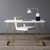 CB2 office furniture set