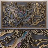Waves - Metal wall panel 6