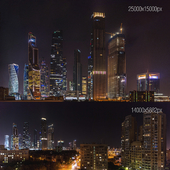 Ночной вид на Москва-Сити. 25k