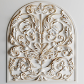 Decorative Plaster Moldings Flower 03