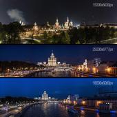 Ночной вид на Кремль и Москва-реку