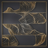 Waves - Metal wall panel 9