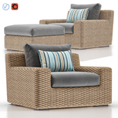 Cayman Outdoor Lounge with Ottoman
