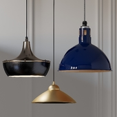 Rae, Wesco Vented Cord and Small Cone Pendants
