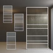 Glass partition door 28