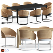 Globewest Weaver Cantilever Chair and Linea Oslo Table