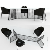 Driade Costes chair and Driade Anapo table