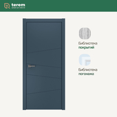 """Interior door factory """"Terem"""": model Twist 03 (Techno collection)"""