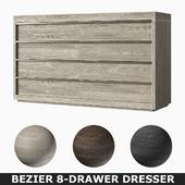 BEZIER 8-DRAWER DRESSER