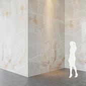 Fiandre Precious Stones WHITE ONIX 300x150 cm onyx slab Tile Set