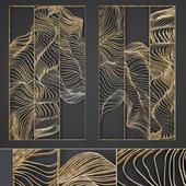 Waves - Metal wall panel 10
