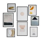 minimal paintings set