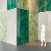 Fiandre Precious Stones GREEN MARBLE/BRECCHIA/MALACHITE 300x150 cm Tile Set