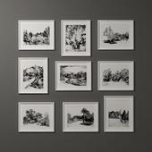 Hand drawn photo frame- Landscape