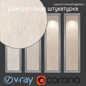 Decorative plaster, single layer option 202