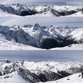 Panorama of the mountains of Krasnaya Polyana