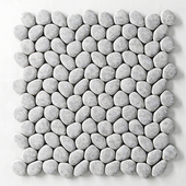 Panel made of white smooth pebbles / Panel wite smooth pebble