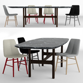 Novamobili Natt chair and Novamobili Torii table
