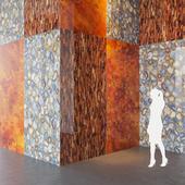 Fiandre Precious Stones TIGER GOLD/AMBRA/QUARZI 300x150 cm Tile Set