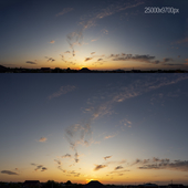 Облака для экстерьера. Закат