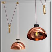 Подвесной светильник Shape up Pendant Hemisphere Copper designed by John